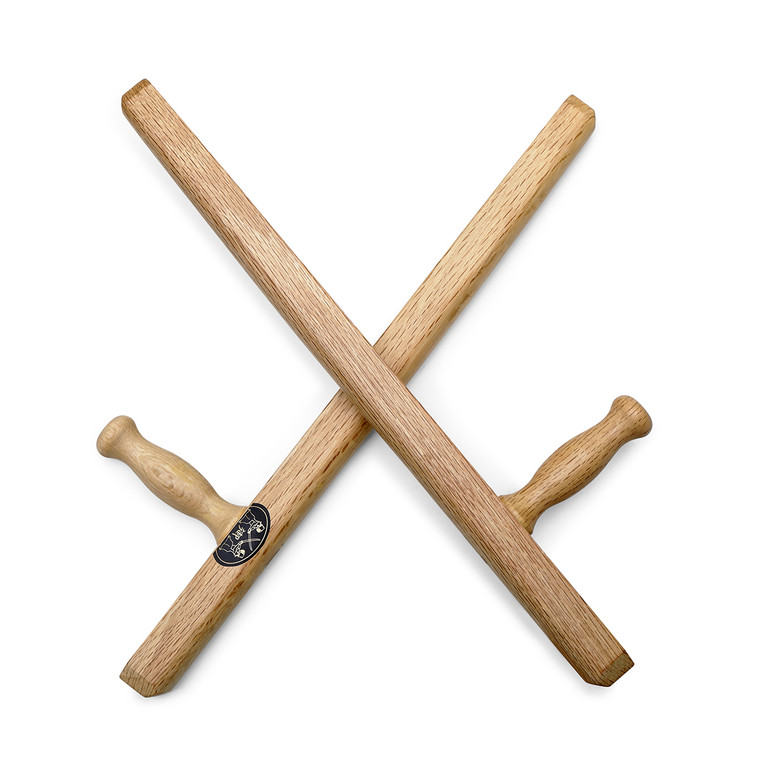 "Pro Budo White Oak Traditional Square Tonfa 20"""