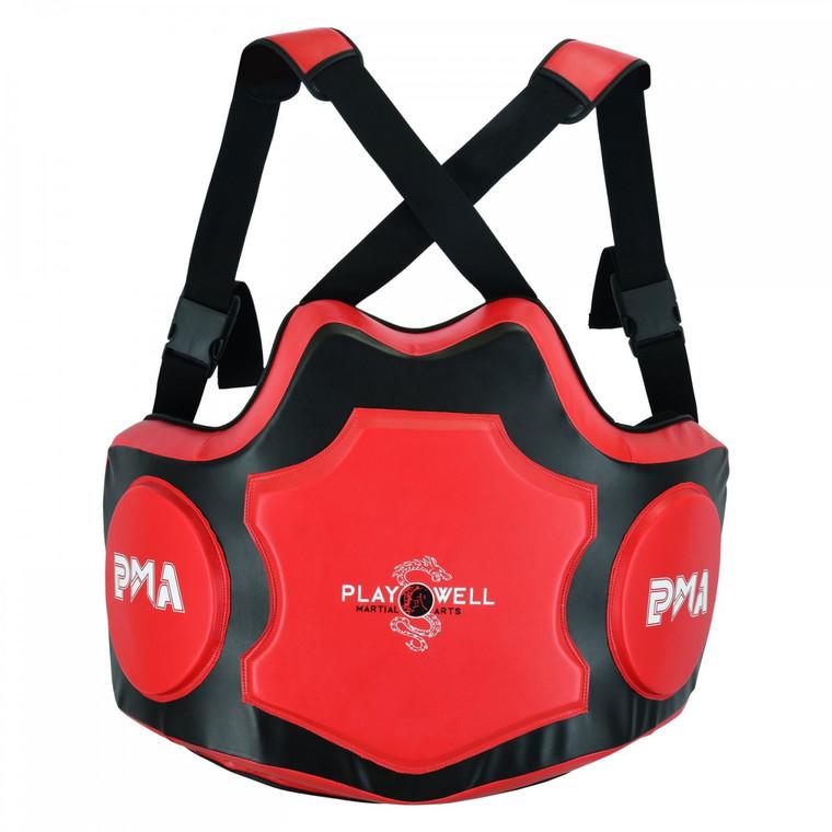 PMA Elite Pro Coaching Body Shield Black Red