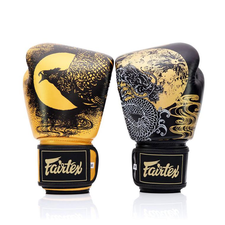 Fairtex Harmony Six Black Gold Boxing Gloves