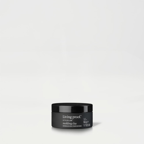 This buildable, layerable clay has the workability to shape, mold and hold hair in place while providing the ability to create and rework styles throughout the day. Powered by our Our Thickening Molecule (PBAE) and blend of temperature sensitive resins, Molding Clay:   shapes your hair into dynamic styles on damp or dry hair keeps your style in place remains malleable & revivable so you can change your style throughout the day  has medium hold and matte finish Molding Clay is ideal for men and women with short hair. It is silicone-free. Safe and formulated for color and chemically treated hair.