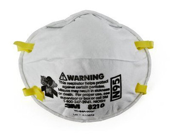 3M #8210 - Mask Face Respirator Particulate N95 White 20/Bx