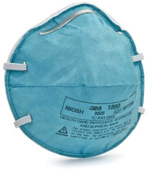 1860 3M Health Care Regular Particulate Respirator Mask Cone Molded, 20/bx