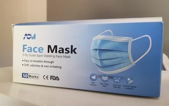 ACM 3 Ply Mask, Soft, Odorless, Non-Irritating, 50/box