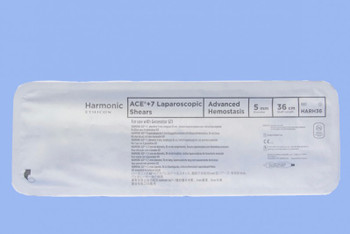 HARH36  ETHICON HARMONIC ACE+ 7 SHEARS WITH ADVANCED HEMOSTASIS: 5MM X 36CM, CURVED TIP