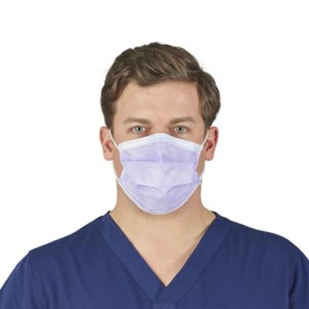Halyard Health #25869 - FluidShield Earloop Face Mask Procedural ASTM Level 1, BLUE, 50/BX