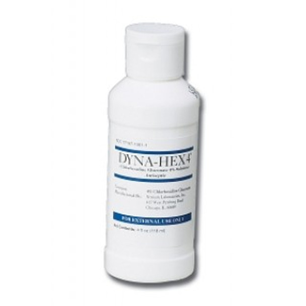 Medline #MDS098710 - Surgical Scrub Sanitizer: Dyna-Hex 4% CHG Liquid Surgical Scrub, 4 oz., 48 Per/Cs