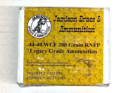 Jamison Brass & Ammunition - .44-40 WCF 200 Grain RNFP - Legacy Grade Ammunition - 20 ROUNDS