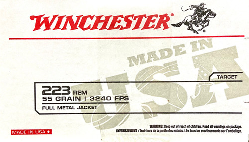 Winchester 223 REM Ammo - 55 grain - Target - FMJ