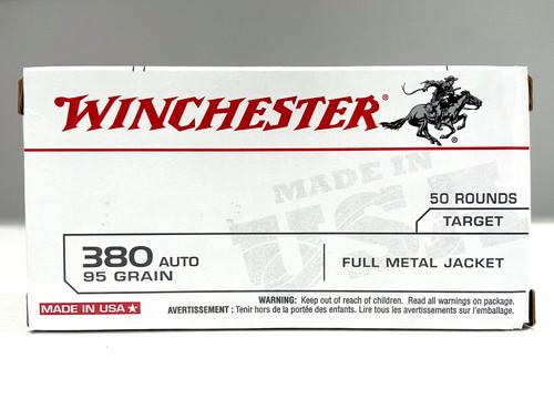 Winchester 380 Auto Ammunition - 95 grain - FMJ - Target - 50 rounds