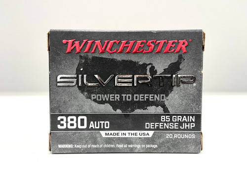 Winchester Silvertip 380 Auto Ammunition - 85 grain - Defense JHP - 20 rounds