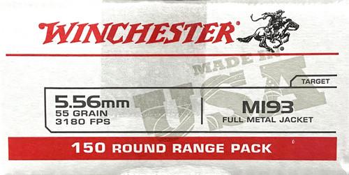 Winchester 5.56mm Ammo - M193 FMJ - 55 grain - Target