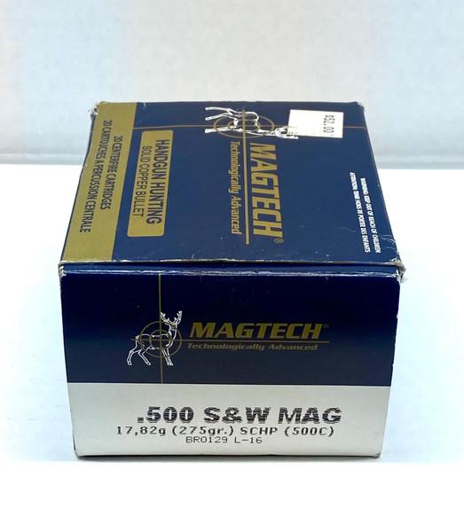MAGTECH - Handgun Hunting - Solid Copper Bullet - .500 S&W Mag - 20 Centerfire Cartridges