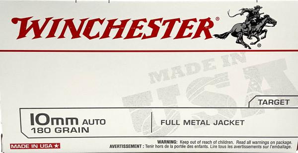 Winchester 10mm Auto Ammunition - 180 grain - FMJ - Target - 50 ROUNDS
