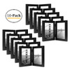 5x7 Inch Hinged Picture Frame with Glass Front - Made to Display Two 5x7 Inch Pictures, Stands Vertically on Desktop or Table Top (5x7 Double, Black) (10pcs/box)
