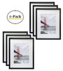 16x20 Black Picture Frame - Made to Display Pictures 11x14 Photo with Ivory Color Mat - Wide Molding - Built in Hanging Features (6pcs/box)