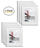 16x20 White Picture Frame - Made to Display Pictures 11x14 Photo with Ivory Color Mat - Wide Molding - Preinstalled Wall Mounting Hardware (6pcs/box)