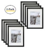 12x16 Black Picture Frame - Made to Display Pictures 8.5x11 Photo with Ivory Color Mat - Wide Molding - Built in Hanging Features  (8pcs/box)