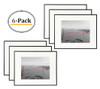 11x14 Inch Matte Black Aluminum Metal Picture Frame and Real Glass with Ivory Color Mat for 8x10 Picture (6pcs/box)