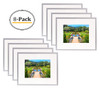 Metal Picture Frame Collection, Aluminum Silver Photo Frame with Ivory Color Mat for Picture & Real Glass (8x10)Metal Picture Frame Collection, Aluminum Silver Photo Frame with Ivory Color Mat for Picture & Real Glass (8x10) (8pcs/box)