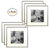 12x12-inch Square Photo Frames - Aluminum Silver Picture Frame with Photo Mat & Real Glass for 8x8-inch Pictures (6pcs/box)