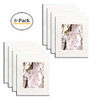 11x14 White Picture Frame - Made to Display 8x10 Photos with Ivory Color Mat - Wide Molding - Built in Hanging Features (White) (8pcs/box)