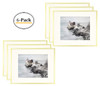 Metal Picture Frame Collection, Aluminum Gold Photo Frame with Ivory Color Mat for Picture & Real Glass (11x14) (6pcs/box)