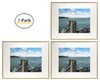 16x20 Metal Picture Frame Collection, Aluminum Gold Photo Frame with Ivory Color Mat for Picture & Real Glass (16x20) (3pcs/box)