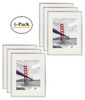 11x14 Silver Aluminum Frame with Ivory Color Mat For 8x10 Pictures, Back Swivel Tabs, Sawtooth Hangers, Wall Mounting, Real Glass Front (6pcs/box)