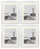 16x20 Silver Aluminum Frame with Ivory Color Mat For 11x14 Pictures, Back Swivel Tabs, Sawtooth Hangers, Wall Mounting, Real Glass Front (4pcs/box)