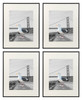 16x20 Metal Picture Frame Collection, Aluminum Photo Frame with Ivory Color Mat for 11x14 Picture & Real Glass (Black) (4pcs/box)