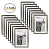 X7 Table-Top Metal Picture Frame Collection, Aluminum Photo Frames with Ivory Color Mat for 4X6 Picture & Real Glass (Coffee) (14pcs/box)