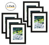 11x14 Black Frame - Curved Bevel Design - Made to Display Pictures 8x10 Photo With Ivory Color Mat - Real Glass (Black, 11x14) (6pcs/box)