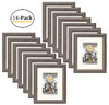 8x10 Frames, Gray-Wood Color, Curved Bevel Design - Made to Display Pictures 8x10 Photo With Ivory Color Mat - Easel Stand - Real Glass (8x10, Gray-Wood) (14pcs/box)