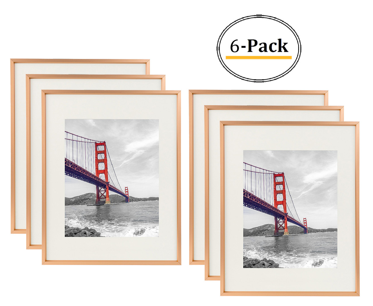 Metal Picture Frame Collection 11x14 Rose Gold Aluminum Photo Frame