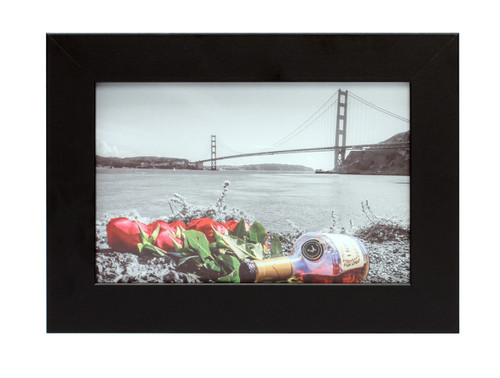 4x6 Picture Frame - Made to Display Pictures 4x6 Photo- Wide Molding - Preinstalled Wall Mounting Hardware (12pcs/box)