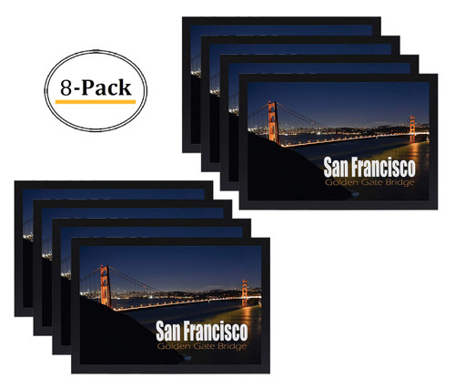 12X18 Poster Frame with Plexiglas Front, Golden Gate Bridge Gallery Edition, Designed to Display Vertically or Horizontally on a Wall  (8pcs/box)