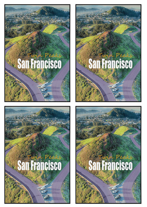 24x36 Poster Frame, Pre-Assembled Black Metal Aluminum, Golden Gate Bridge Gallery Edition (4pcs/box)