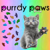 Purrdy Paws Cat and Kitten Soft Nail Cap Covers in Combo - Rainbow Glitter