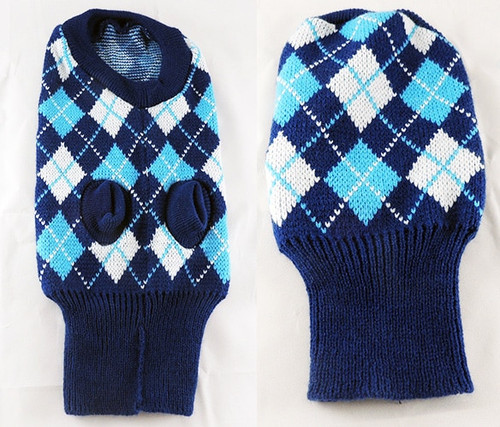 Dog Argyle Sweaters