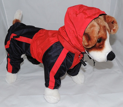 Dog Waterproof Rain Coat / Slicker With Hood