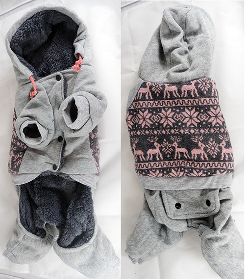 Dog Hooded Sweat Suits