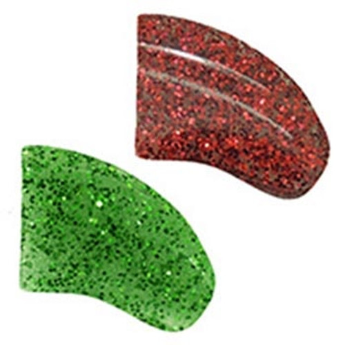 Purrdy Paws soft nail caps for dogs and puppies in Combo - Glitter Christmas