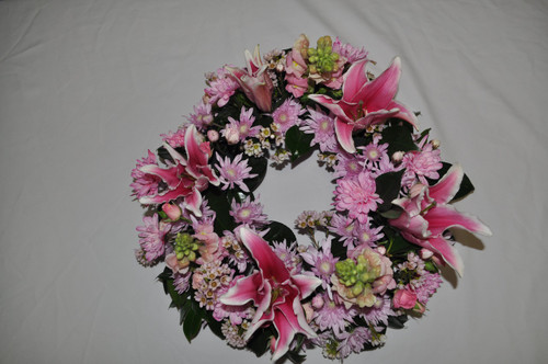 Perfect pink wreath