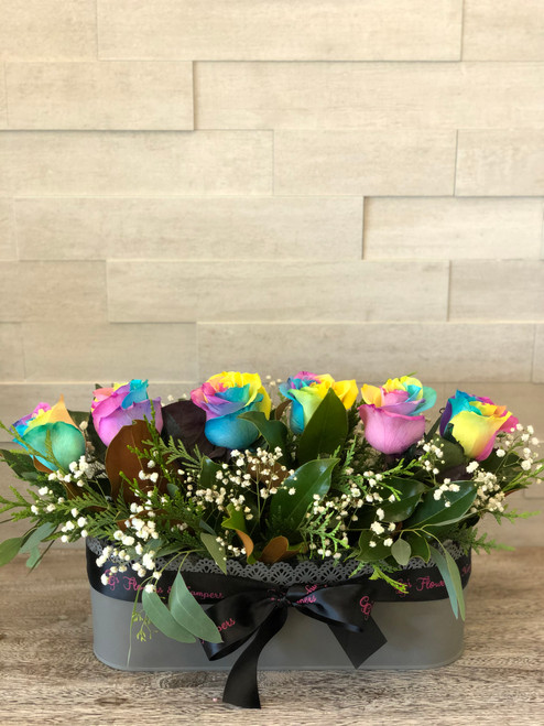 Rainbow Rose Lace Planter - FREE Delivery