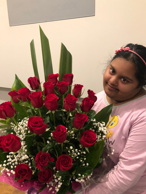 24 red roses - FREE DELIVERY