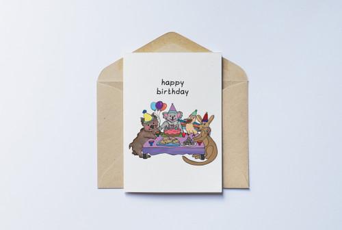 Aussie Animal Birthday Card