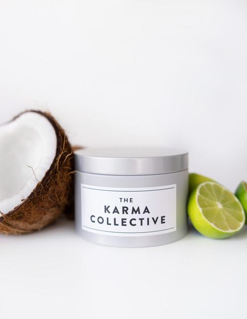 Coconut Lime & Elderflower Candle Tin