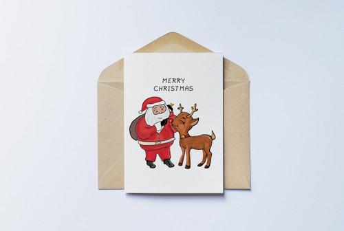 Santa Rudolph Christmas Card