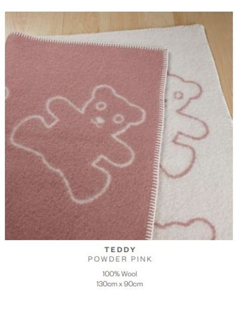 Teddy Throw Powder Pink