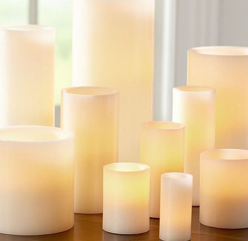 Flameless Ivory Candle 4x 6 (10.1 x 15.2cm)
